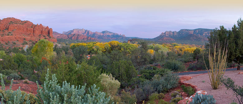 Panoramic view of Sedona